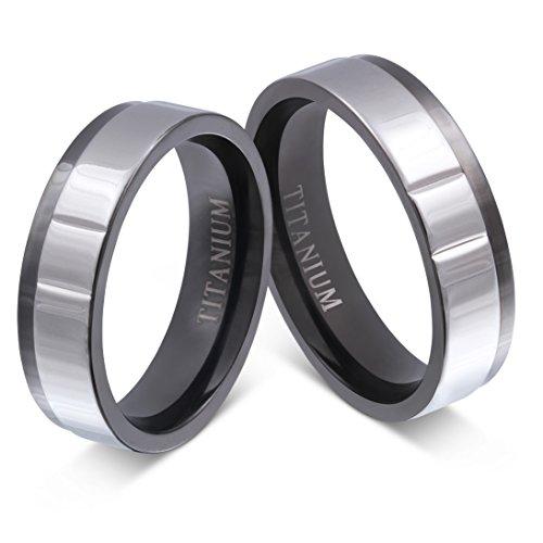 ... Verlobungsringe, Trauringe in Schwarz/Silber mit Gratis Gravur Titan