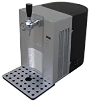 Vinotemp VT-BEER 5-Liter CO2-Powered Tabletop Beer Dispenser, Silver and Black by Vinotemp International