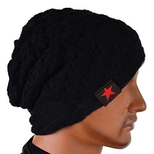 ニット帽 メンズ ニット帽子 シンプル スノーボード スキー にも最適 帽子 (黒)