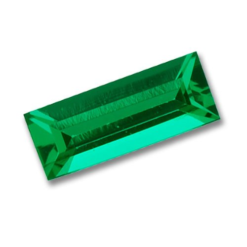 5x2mm Baguette Gem Quality Chatham-Created Cultured Emerald .10-.14 Ct.