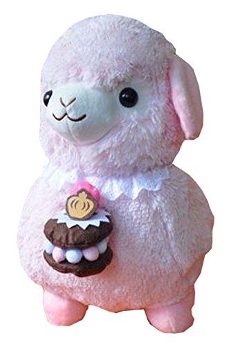 Plüsch-Puppe für Kinder Kuchen Lamm Plüschtier Stuffed Alpaca Rosa Gift (H) 40CM