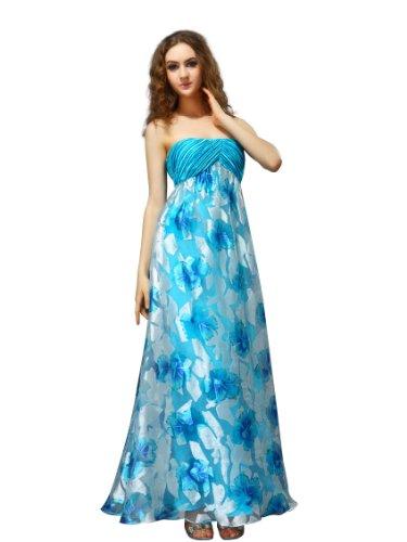 f1335d41edf5 Ever Pretty Women s Impression Floral Print Long Dress Size 2XL Blue  09354BL16 Reviews