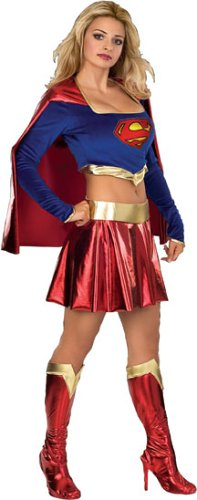 Women X-Small - Sexy SUPERGIRL COSTUME - Runs VERY VERY SHORT
