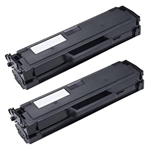 Amsahr 3317335 Compatible Replacement Toner Cartridge for Dell B1160, 331-7335, 2 Pack, Black Color