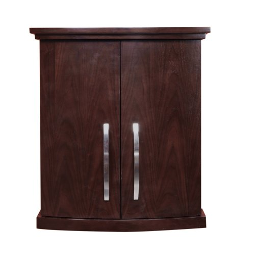 decolav 5259 dwn alexandra 23 inch curved wall cabinet dark walnut