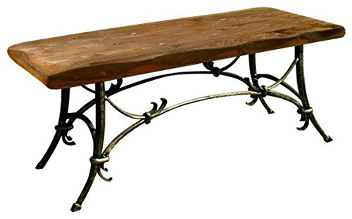 Stone Age Creations BE-TU-WD Wooden Tuscany Bench With Iron Base