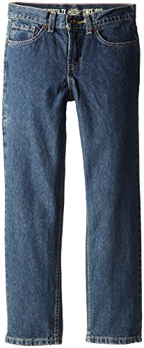 Dickies Big Boys' Slim Straight Icon 6-Pocket Jean, Khaki Tint, 16