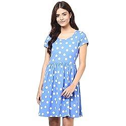Honey by Pantaloons Women's Cotton Dress (205000005545278_Navy_S)