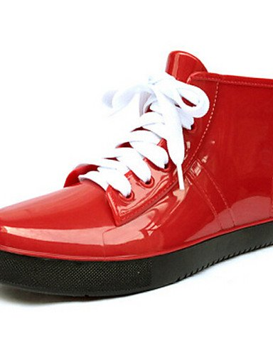 purftree-mujer-tacon-plano-botas-de-lluviaexterior-casual-deporte-latex-negro-rojo-naranja-almendra-