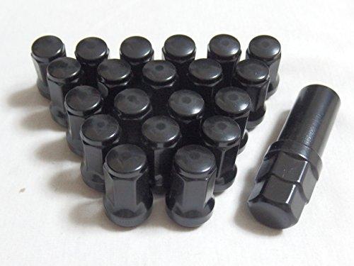 車 を手軽にドレスアップ ホイール レーシング ナット 35mm P1.5 20個 (黒)