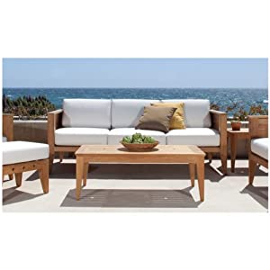 Amazon.com: Craftsman Teak Outdoor Lounge Furniture Set: Patio ...