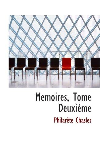 Memoires, Tome Deuxième