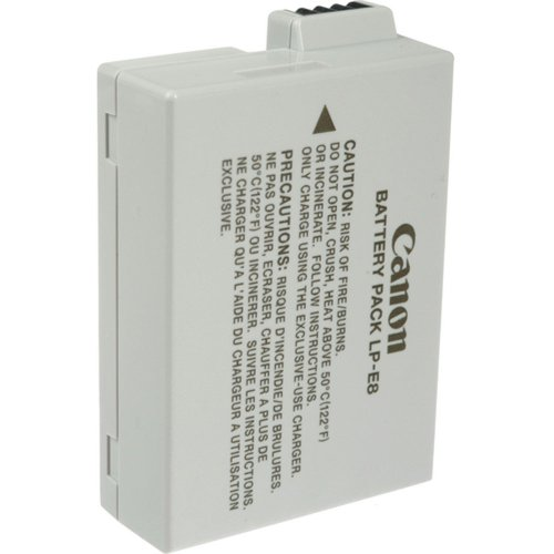 419Eg%2BwL9YL Canon LP E8 Battery Pack for Canon Digital Rebel T2i and T3i Digital SLR Cameras (Retail Package)