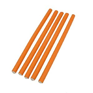 5 Pcs Orange Foam Folding Folded DIY Hair Curler Roller