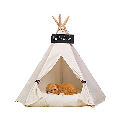 Free Love@pure white Pet Kennels Pet Play House Dog Play Tent Cat /Dog Bed