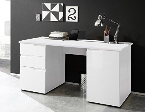 Schreibtisch-weiss-Hochglanz