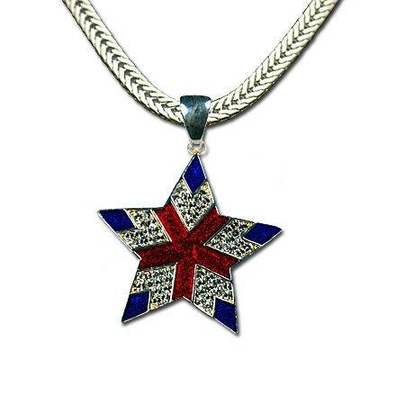 Red, White & Blue Star Neckslide/Pendant