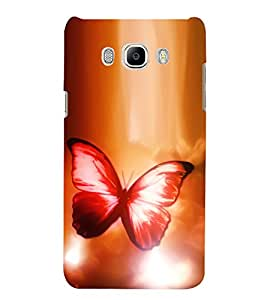 Colourful butterfly Designer Back Case Cover for Samsung Galaxy J7(2016) Edition 5.5 Inches Screen