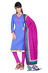 Swagpod Light Blue Bhagalpuri Khadi Unstitched Dress Material SWAG00274