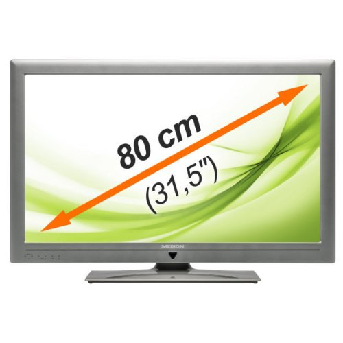 "MEDION LIFE P15118 MD 30628 80cm (31,5"") LED-Backlight Technologie, DLNA zertifiziert, HD Triple Tuner, Medienportal, Mediathek, Hbb TV, CI+ Schnittstelle, 4x HDMI & 2x USB, EPG, Energieeffizienzklasse: A"