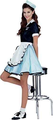 Car Hop Girl Adult Costume-Standard One-size