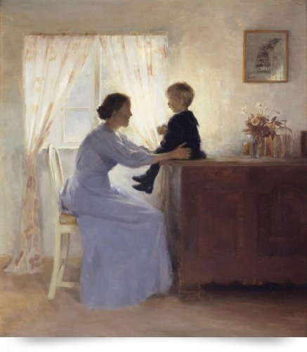 A Mother And Child In An Interior, 1898 (Oil On Ca (Giclee Art Print), The Fine Art Masters front-933265