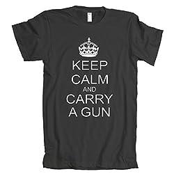 Keep Calm and Carry a Gun American Apparel T-Shirt