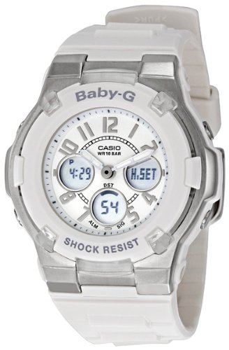Casio Women's BGA100-7BCR Baby-G White Analog Digital Watch
