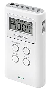 Sangean DT-120 AM/FM Stereo PLL Synthesized Pocket Receiver