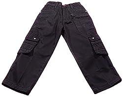 Boyhood Boys' Cotton Slim Fit Trousers (t3043-bk-22 _ 4 - 5 Years, Black)