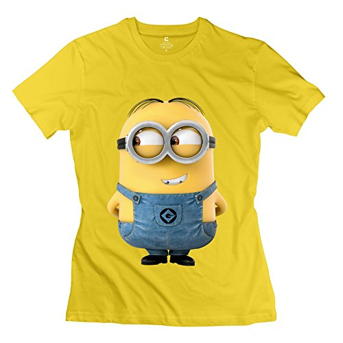 Youshine Women's Cute Minions Dave Tee Shirts Yellow