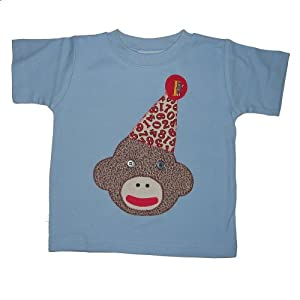 Silly Sock Monkey 1st Birthday Short Sleeve Shirt