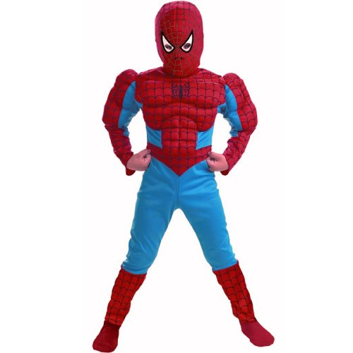 Disguise Spider-Man Comic Muscle Figure Child Costume Red/Blue Medium (7-8)