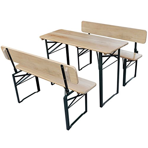 Surprising Cheap Vidaxl Foldable Beer Table And 2 Benches With Pabps2019 Chair Design Images Pabps2019Com