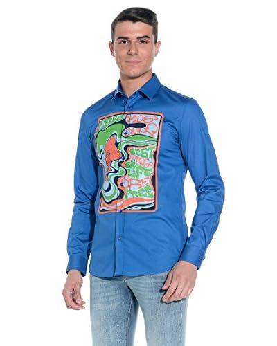 Love Moschino Camicia Uomo [Blu]
