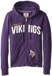NFL Minnesota Vikings Ladies Pep Rally Full Zip Hoodie by