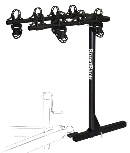 """Sportrack - A30404Tw200 - Hitch Rack Escape Twin Arm 2"""" 4 Bike Towing Rack front-467947"""