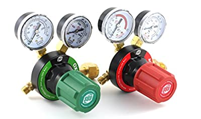 SÜA Oxygen and Acetylene V350 Regulators Combo VICTOR Style