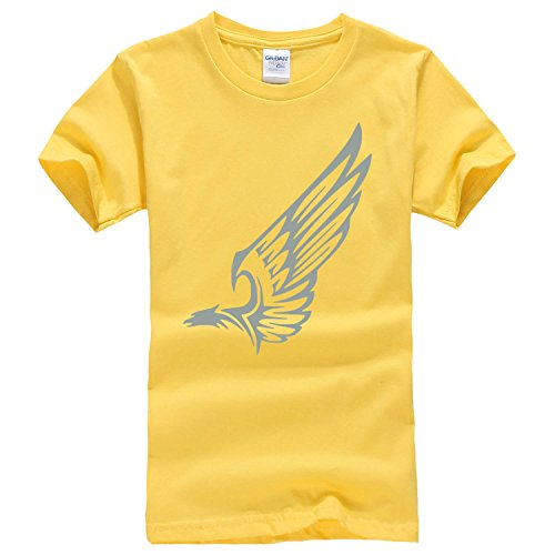 Character expansion wings short sleeve T shirt x-small chestnut yellow