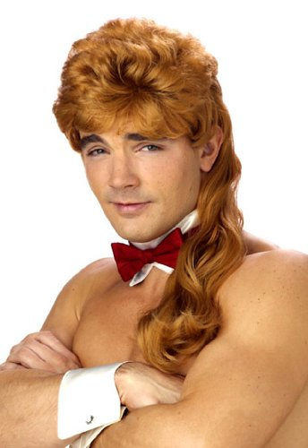 Mega Mullet Men's Wig Features. Always in style; Red hair; Great accessory
