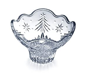 Celebrations by Mikasa Christmas Night 6-Inch Glass Footed Bowl