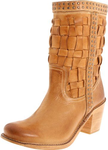 ed2f816013e1f Frye Women's Carmen Woven Short Brown Mid Calf Boots 76245 8 UK