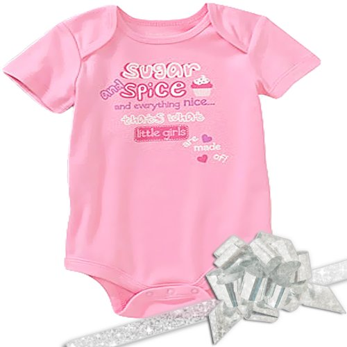 "Koala Baby Girl'S ""Sugar And Spice"" Deluxe Onesie Gift, Pink, Size: 3-6 Months front-185146"
