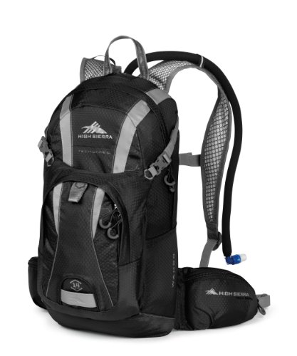 High Sierra Wahoo Hydration Pack, Black/Silver,