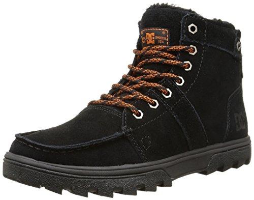 DC Shoes WOODLAND M, Stivaletti a gamba corta mod. Classics, senza imbottitura uomo, Nero (Schwarz (Black/Orange BO1)), 40