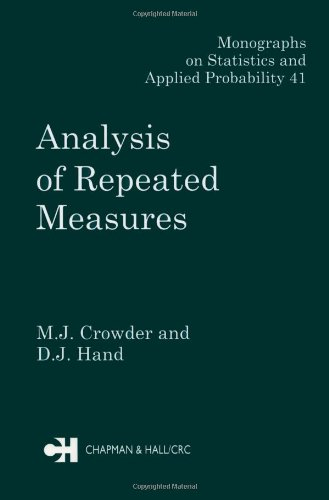 Analysis Of Repeated Measures (Chapman & Hall/Crc Monographs On Statistics & Applied Probability)