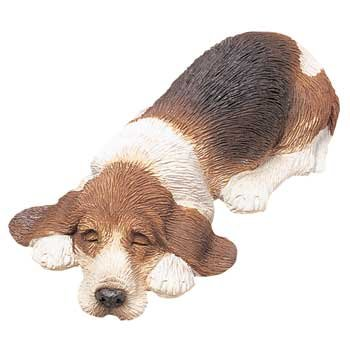 Sandicast Basset Hound Snoozer Dog Figurine