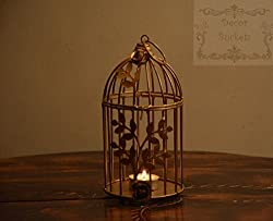 Cage tea light holder