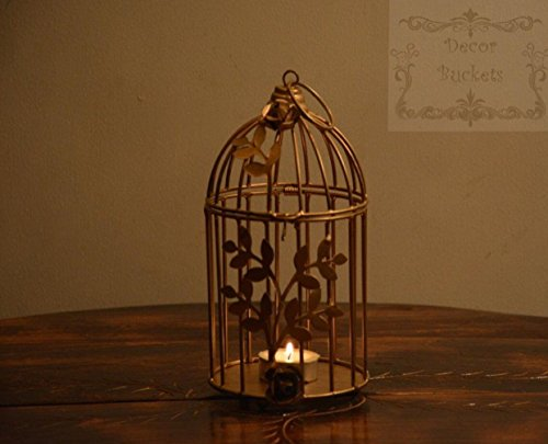 Cage tea light holder