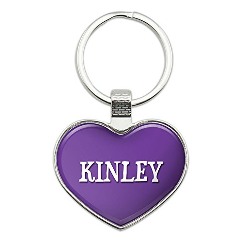 graphics-and-more-metal-keychain-key-chain-ring-purple-i-love-heart-names-female-k-kena-kinley